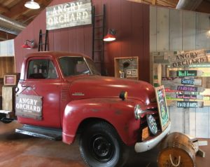 apple truck in Angry Orchard museum