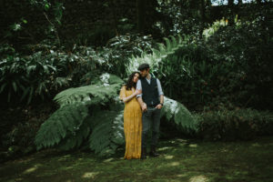 Couple posing for elopement photography